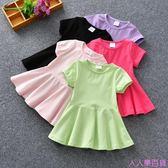 女童1夏裝2女寶寶娃娃裙3夏季4短袖5歲嬰兒童裝夏天公主連身裙子5