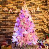 (八八折搶先購)粉色圣誕樹套餐裝1.5米1.8米2.1米家用圣誕節裝飾品ins抖音網紅樹XW