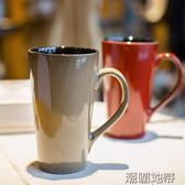 陶瓷杯大容量家用水杯復古創意個性馬克杯歐式喝水時尚茶杯子【潮咖地帶】