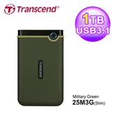 【Transcend 創見】1TB 薄型行動硬碟 TS1TSJ25M3G