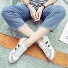 韓版拼色厚底 平跟休閒鞋  小白鞋