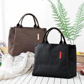 純色多功能保溫包媽咪包買菜包手拎袋飯盒包便當包大容量帆布手拎 伊衫風尚