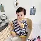 熱賣包屁衣 ins嬰兒服韓版夏季哈衣男寶寶爬爬服外出網紅短袖連體衣女薄款潮 coco