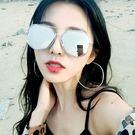 太陽眼鏡 中性情侶多邊形設計金屬框 墨鏡 五色可選 父親節降價
