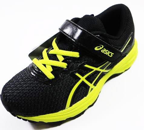 ASICS 亞瑟士 GT-1000 6 PS 兒童 支撐足弓 慢跑鞋 C741N-9077(黑x螢光綠)[陽光樂活]
