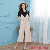 Red House 蕾赫斯-兩件式綁帶連身褲(共4色)