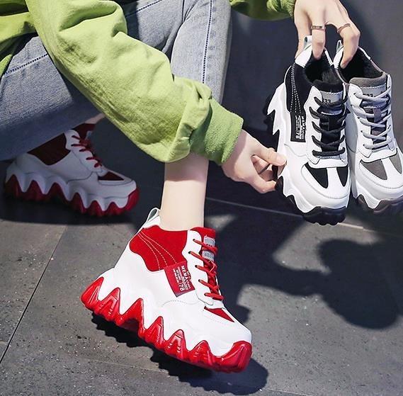 運動老爹鞋ins潮新款2021透氣厚底春季網紅鬆糕鞋內增高女鞋 3C數位百貨