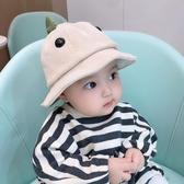 嬰兒帽子 嬰兒漁夫帽燈芯絨寶寶帽子秋冬1-2歲男女童卡通可愛盆帽兒童帽子【全館免運】