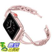 【美國代購】Secbolt不銹鋼錶帶 金屬腕帶X-Link運動錶帶 玫瑰金
