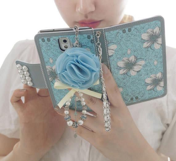 藍百合皮套 送掛繩送吊飾iPhone 6 Plus(5.5寸)/ 6/6s(4.7寸)/5/5S/SE手機皮套 手機殼 手機保護套