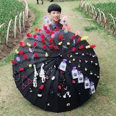 24骨髮飾微商地推髮夾傘擺攤必備神器傘小髮夾傘吸粉引流便攜迷你 igo 薔薇時尚
