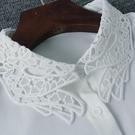假領子襯衫穿搭假領片  雪紡紗手指頭  罩衫洋裝針織大學T外套內搭白色[E1303] 預購.朵曼堤洋行