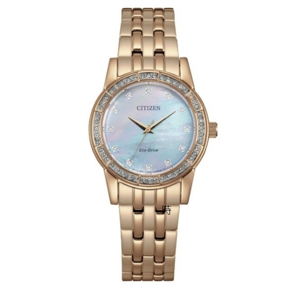 CITIZEN星辰 光動能 時尚 限量晶鑽手錶 EM0773-54D