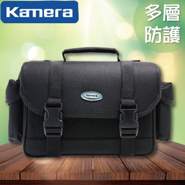 ➤【和信嘉】Kamera 817 多層防護攝影包 黑 一機兩鏡包 Canon Nikon Sony Fuji