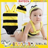 韓版超卡哇依小蜜蜂造型泳裝+帽子.尺寸S/M/L/XL