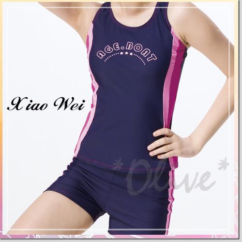 ☆小薇的店☆梅林品牌運動休閒風時尚二件式泳裝特價690元NO.K0371(M-L)