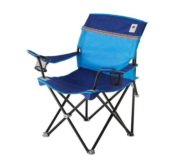 丹大戶外【LOGOS】日本 Neos美背休閒椅 折疊椅/露營椅/輕便椅/休閒椅 73172009 藍