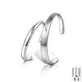 K'OR蔻兒 刻愛鑽石/白鋼成對手環(手環外側可刻字)