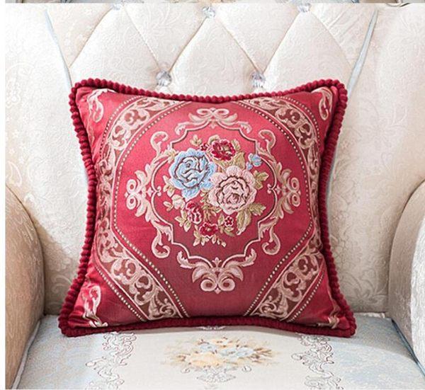 抱枕靠墊含芯歐式沙發大靠枕奢華酒店客廳正方形枕頭床上靠背【全館免運】