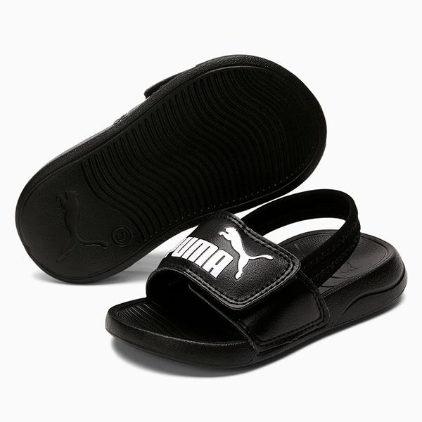PUMA Popcat 20 Backstrap 童鞋 小童 涼鞋 基本款 輕量 LOGO 黑【運動世界】37386201