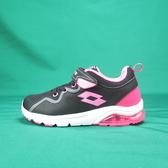 LOTTO 慢跑鞋 抗菌防臭 輕量氣墊跑鞋 LT9AKR0593 大童/女鞋 黑粉色【iSport 愛運動】