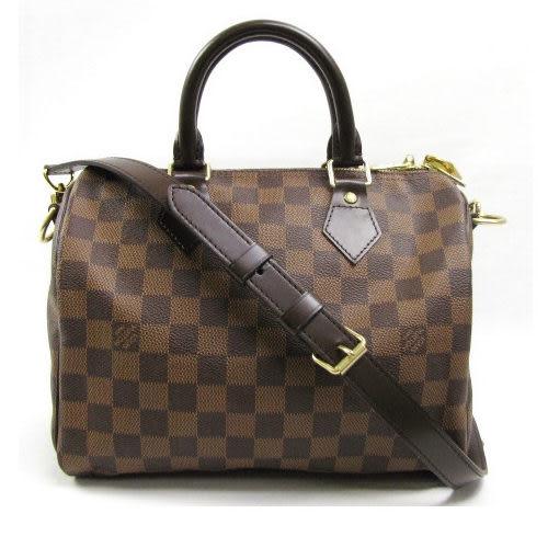 Louis Vuitton LV N41368 N41181 Speedy 25 棋盤格紋附背帶手提包 全新 現貨【茱麗葉精品】