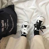 正韓韓風小白鞋女學生原宿布鞋港風板鞋帆布鞋【紅人衣櫥】