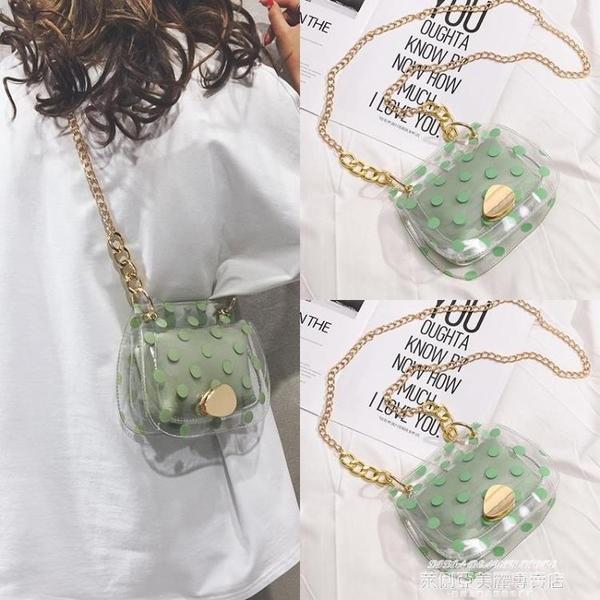 果凍包 今年流行夏天夏季小清新透明果凍包小包包女2021新款網紅迷你斜背 新品