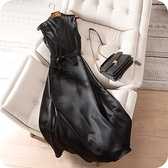 洋裝-無袖時尚修身高貴V領連身裙2色73sz5【時尚巴黎】