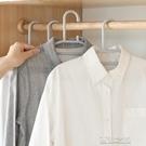 曬衣架 20個日式家用無痕防滑衣架塑料成人衣服撐子衣柜衣掛衣架子晾衣架