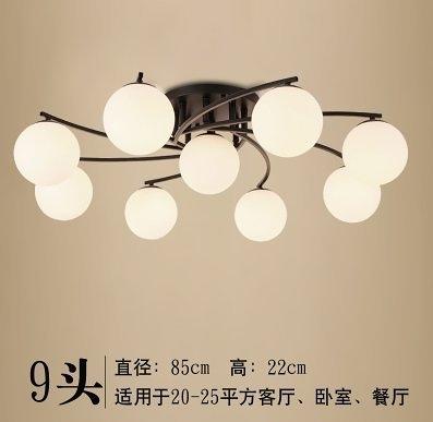 特惠 美式鄉村田園溫馨臥室燈吸頂燈簡約現代創意北歐大氣客廳餐廳燈具【不含光源】