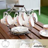 【Hanlix 亨利士】MIT台灣製 304不鏽鋼 茶壺型咖啡杯盤置物架【KY-601】