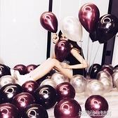 加厚珠光氣球兒童生日派對裝飾創意結婚婚禮婚房錶白布置多款 【優樂美】