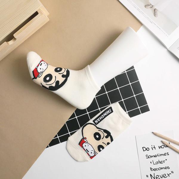 【正韓直送】韓國襪子 Q版蠟筆小新短襪 妮妮 小白 巧克力餅乾 女襪 船型襪 哈囉喬伊 Z21