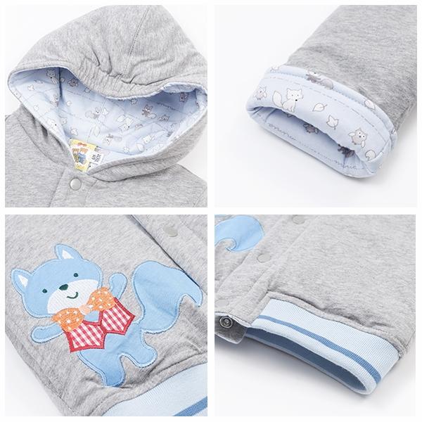 【愛的世界】純棉鋪棉小狐狸兩面穿長袖外套/6個月~3歲-台灣製- ---幼服推薦