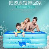 嬰兒童游泳池充氣家庭寶寶成人家用海洋球池加厚超大號洗澡戲水池 QQ28479『bad boy』