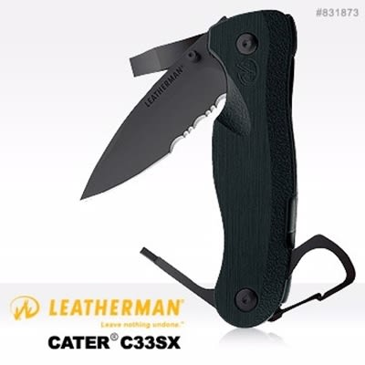 Leatherman Crater折刀(C33SX半齒半刃)#831873【AH13137】JC雜貨