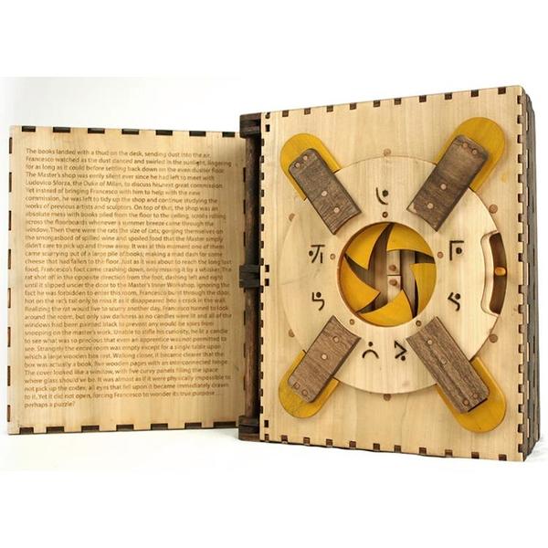 puzzle Codex Silenda 達芬奇密碼書gm同款十級燒腦木質解密玩具 初色家居館