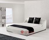 [紅蘋果傢俱] 951 韓式系列 現代 簡約 五尺 六尺 雙人床 床台 床架 軟床 皮藝