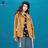 【秋冬降價品】American Bluedeer - 人氣短版抽繩外套(特價)  秋冬新款