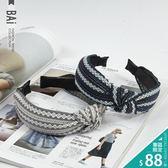 髮箍 菱形圖騰花紋立體打結造型髮圈-BAi白媽媽【180552】
