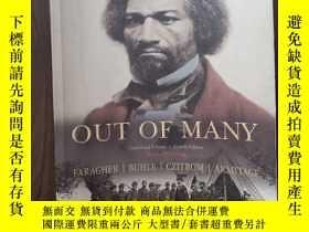 二手書博民逛書店Out罕見of Many Vol. 1 : A History of the American PeopleY