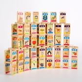 100粒雙面圓角多米諾骨牌木制寶寶識字早教積木益智玩具兒童積木
