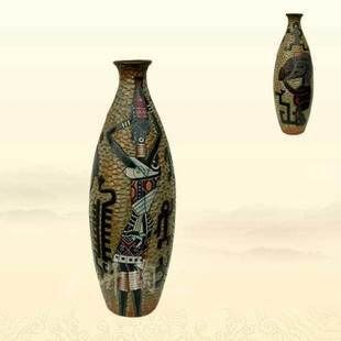 陶藝時尚禮品禮物擺件大保齡非洲遺風花瓶裝飾品