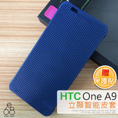 E68精品館 HTC ONE A9 立顯點陣 智能皮套 保護套 殼 洞洞 原廠款 側掀 手機套 保護殼 硬殼 A9U