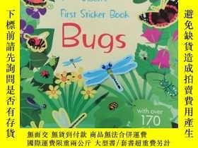二手書博民逛書店Usborne罕見First Sticker Book —— Bugs 書後貼畫缺Y25376 Usborne