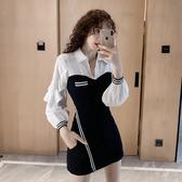 超殺29折 韓國風豎側條紋褶皺修身短褲套裝長袖褲裝