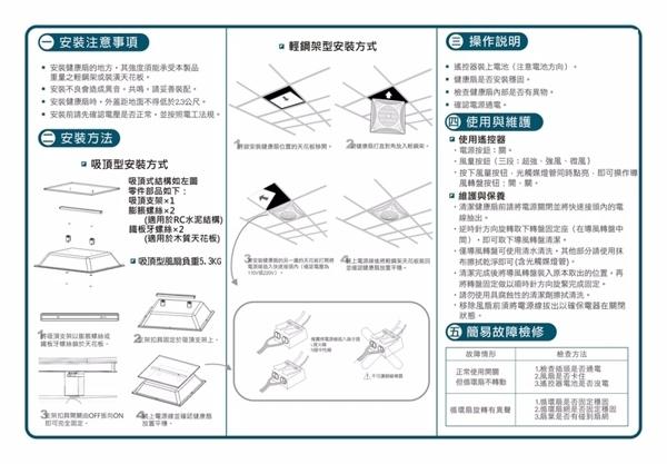 台芝TAISHIBA 輕鋼架節能循環扇 TFG-160 節能循環有效改善室內溫度 MIT台灣製造