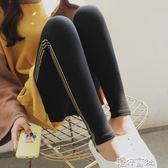 條紋印花打底褲女外穿秋季大碼灰色九分褲韓版秋褲 港仔會社