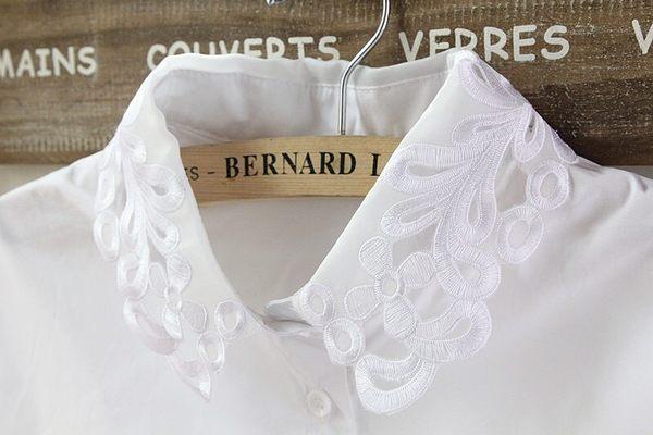 假領子領片洋裝領片洋裝襯衫日系女孩洋裝針織大學T毛衣內搭法式內衣[E1038]滿額送愛康衛生棉